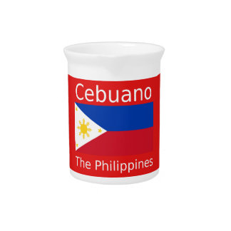 Cebuano Language And Philippines Flag Pitcher
