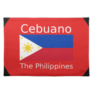 Cebuano Language And Philippines Flag Placemat