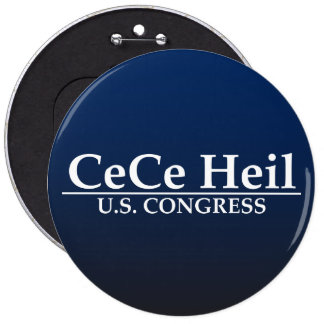 CeCe Heil U.S. Congress 6 Cm Round Badge