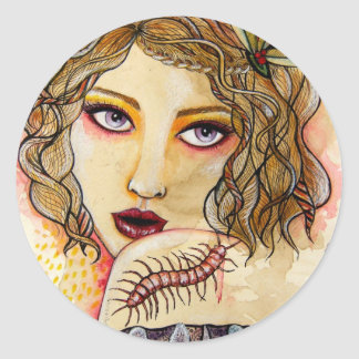 Cecelia and the Centipede stickers