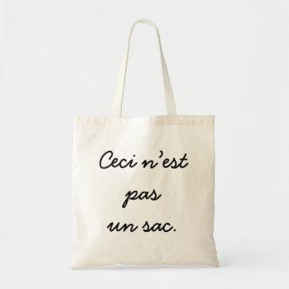 Ceci n'est  pas  un sac. tote bag