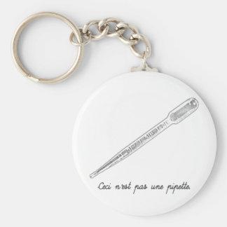 Ceci N est Pas Une Pipette Keychains