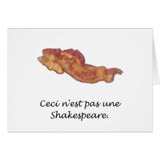 Ceci n est pas une Shakespeare Card