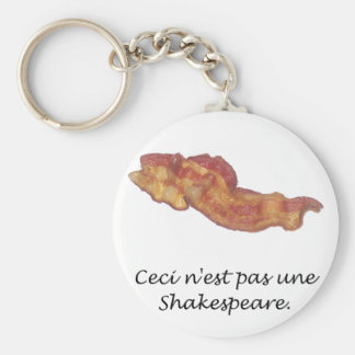 Ceci n est pas une Shakespeare Key Chain
