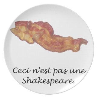 Ceci n est pas une Shakespeare Dinner Plate