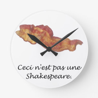 Ceci n'est pas une Shakespeare Round Wall Clocks
