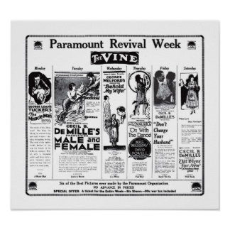Cecil B. DeMille 1922 vintage movie ads poster