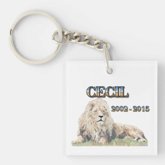 Cecil The Lion Key Ring