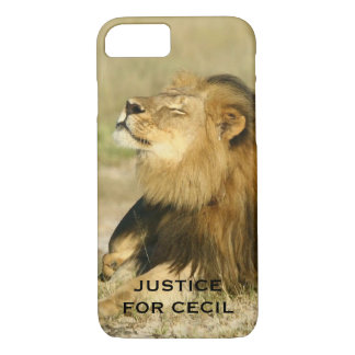 Cecil the Lion Killed in Africa Justice iPhone 7 Case