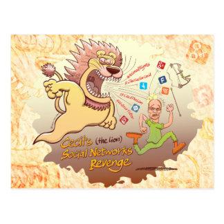 Cecil the Lion's Social Networks Revenge Postcard