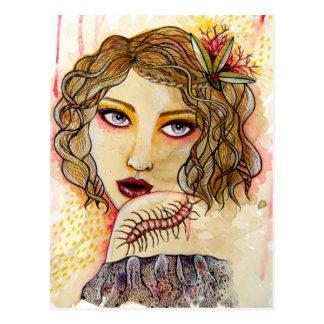 Cecilia and the Centipede Postcard