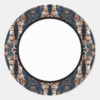 Cecina Mosaic Floor Symmetry Round Sticker
