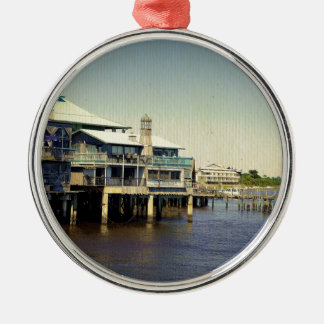 Cedar Key Marina Metal Ornament