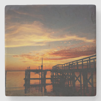 Cedar Key Sunset 9 Stone Coaster