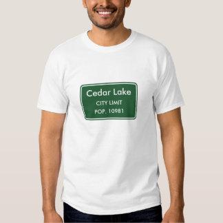 Cedar Lake Indiana City Limit Sign Tee Shirt