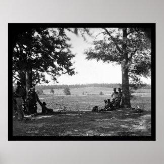 Cedar Mountain Battlefield from the West 1862 Poster