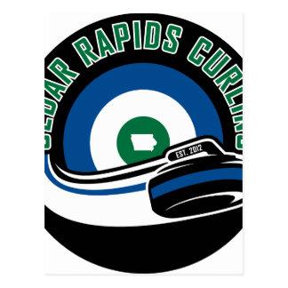 Cedar Rapids Curling Postcard
