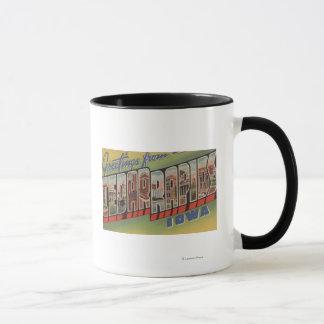 Cedar Rapids, Iowa - Large Letter Scenes Mug
