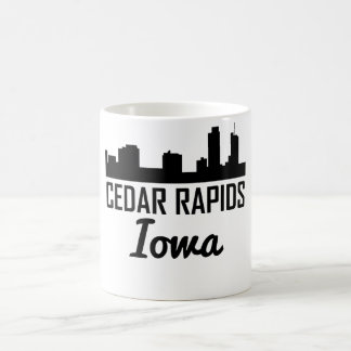 Cedar Rapids Iowa Skyline Coffee Mug