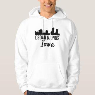 Cedar Rapids Iowa Skyline Hoodie