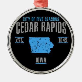 Cedar Rapids Metal Ornament