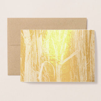 Cedar Textured Wooden Bark Look Foil Card