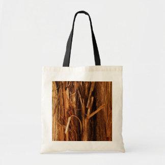 Cedar Textured Wooden Bark Look Tote Bag