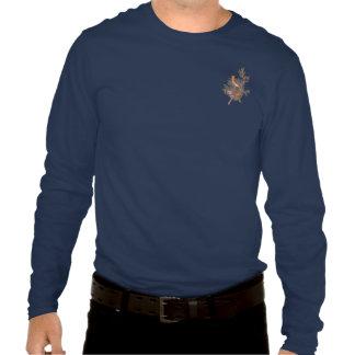 Cedar Waxwing Audubon Bird on Evergreen Juniper T-shirts