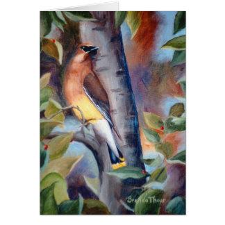 Cedar Waxwing Blank Card