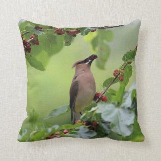 Cedar Waxwing Cushion
