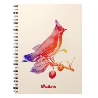 Cedar Waxwing Transparent Bird Notebook