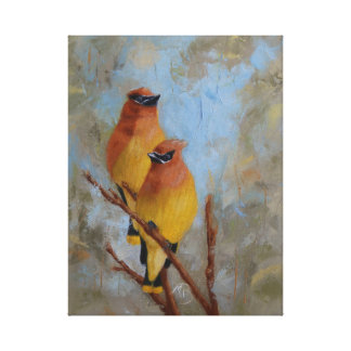 Cedar Waxwings Canvas Print