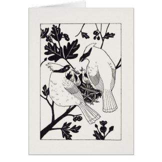 Cedar Waxwings Card