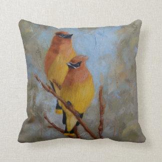 Cedar Waxwings Cushion