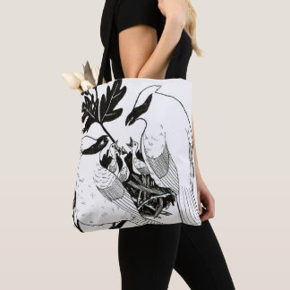 Cedar Waxwings Tote Bag