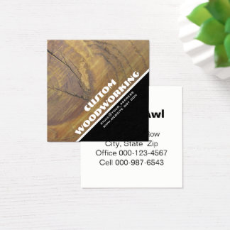 Cedar Wood Knot Close-Up Photograph Square Business Card