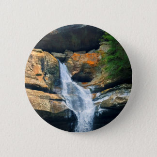 Ceder Falls, Hocking Hills Ohio 6 Cm Round Badge