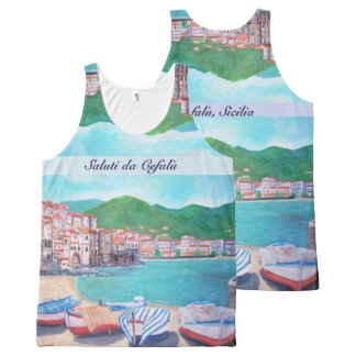 Cefalu - All-Over Printed Unisex Tank