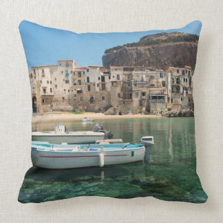 Cefalu town in Sicily Cushion