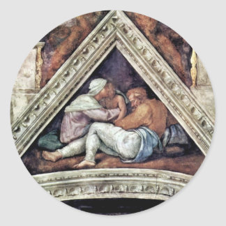 Ceiling Fresco For The Story Of Creation In The si Round Sticker