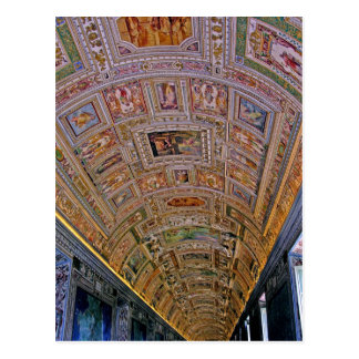 Ceiling in Corridor Leading to Sistine Chapel Postcard