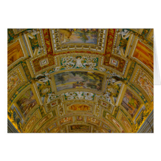 Ceiling in the Vatican Museum in Rome Italy Card