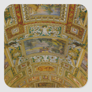 Ceiling in the Vatican Museum in Rome Italy Square Sticker