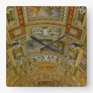 Ceiling in the Vatican Museum in Rome Italy Wallclock