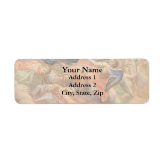Ceiling Mural Church of San Giuseppe Italy Return Address Label