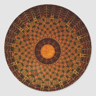 Ceiling of a Chinese temple Round Sticker