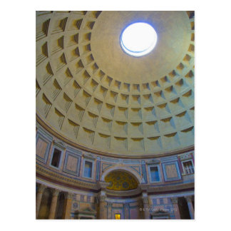 Ceiling of the Pantheon in Rome, Italy. Postcard