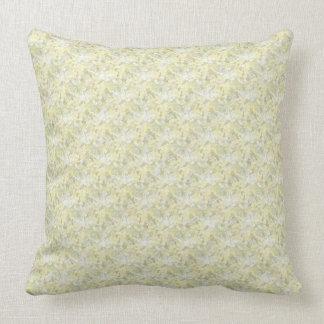 "Celadon and Cream Throw Pillow 20"" X 20"""