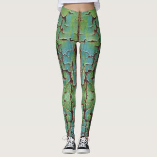 Celadon Crackle Leggings