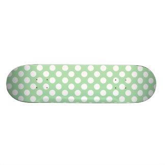 Celadon Green Polka Dots Skate Board Decks